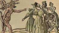 The figure at left is the personification of cholera, facing resistance from a group of women. This 19th century engraving is from Barcelona. PHAS/UIG via Getty Images