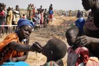 A child receives oral cholera vaccine in South Sudan. Photo: Ella Glass, Courtesy of Medair (2017)